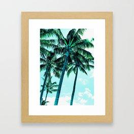 Tropical blues Framed Art Print