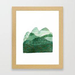 Green Mountain Dreaming Framed Art Print