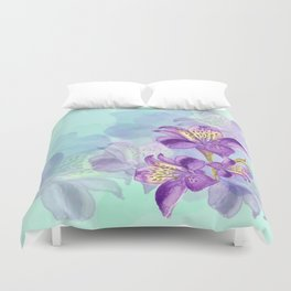 Purple Lilly Duvet Cover