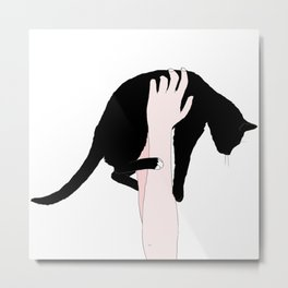 me and my cat  Metal Print