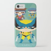 x men iPhone & iPod Cases featuring X Men fan art by danvinci