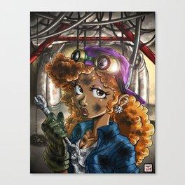 Myika the mechanic Canvas Print
