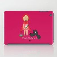 red riding hood iPad Cases featuring Little Red Riding hood by MyimagesArt