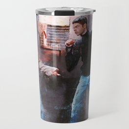 Painting Illustration Of Lucas And AJ From The Cult Classic Film Empire Records Travel Mug