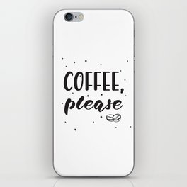 Coffee lettering iPhone Skin