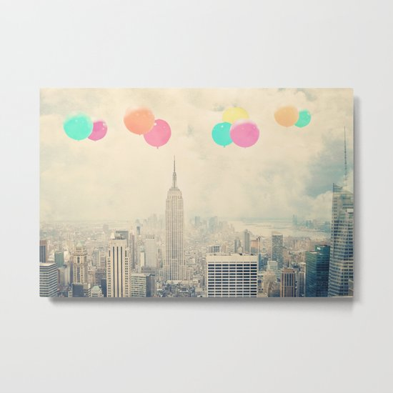 Balloons over the City Metal Print
