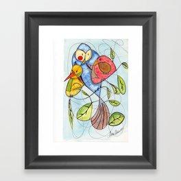 Crowded branch Framed Art Print