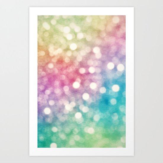 Rainbow Sparkles Art Print