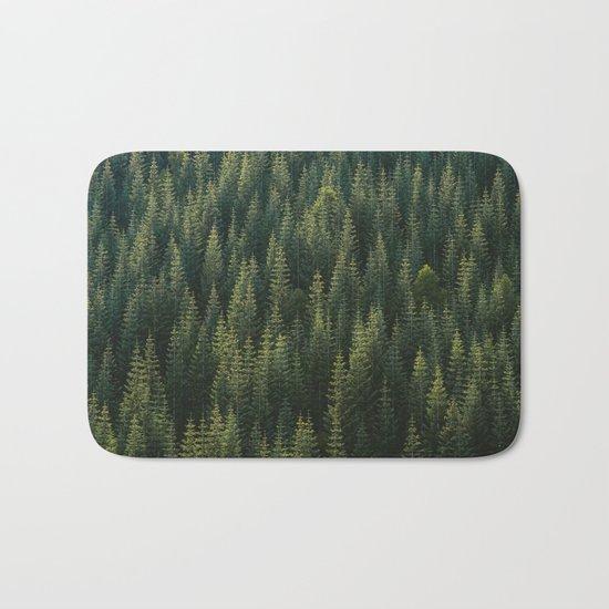Evergreen #woods Bath Mat