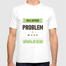 Well defined problem MEDIUM White Mens Fitted Tee