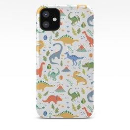Dinos + Volcanoes iPhone Case
