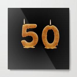 50th Birthday As Candles Happy Birthday Metal Print