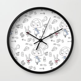 """Curiouser and Curiouser"" Wall Clock"
