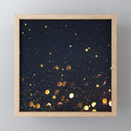 Pennies and Stars Falling From Heaven Framed Mini Art Print