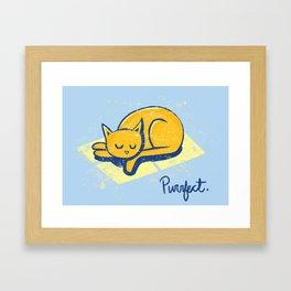 Purrfect Framed Art Print