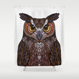 Great Horned Owl 2016 Shower Curtain