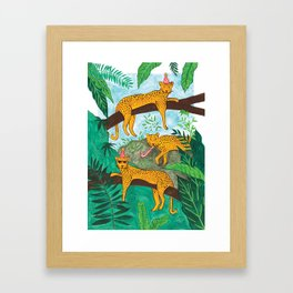Party Leopards Framed Art Print