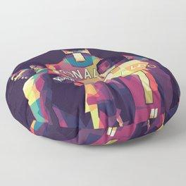 Ronaldo on WPAP Pop Art Portrait Floor Pillow