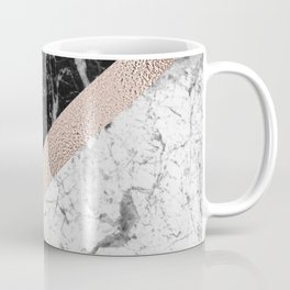 Monochrome marble designer - rose gold Coffee Mug