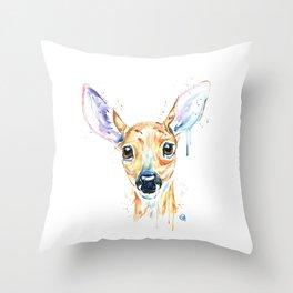 Peekaboo Deer Throw Pillow