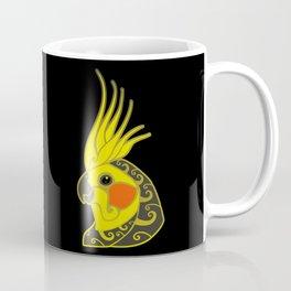 Cockatiel parrot tribal tattoo Coffee Mug