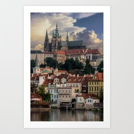 Sunny day in Prague Art Print