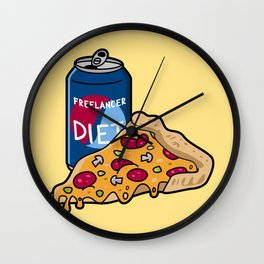 Freelancer diet Wall Clock