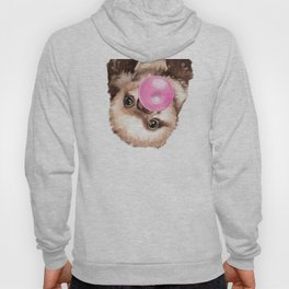 Baby Sloth Playing Bubble Gum Hoody