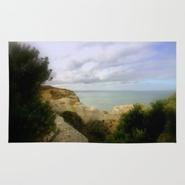 Limestone cliffs looking out to the Great Southern Ocean Rug