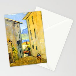 Louis Eilshemius Street in Lugano Stationery Cards