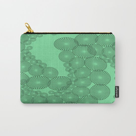 Green Circles Fractal Carry-All Pouch