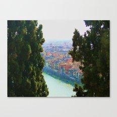 Edifici Colorati Vicino al Fiume. Canvas Print