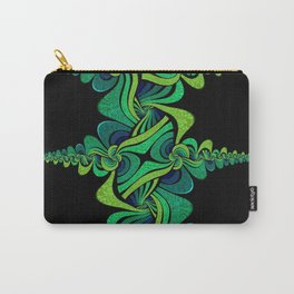 Green and Blue Jeweltone (vertical tapered swirl) Carry-All Pouch