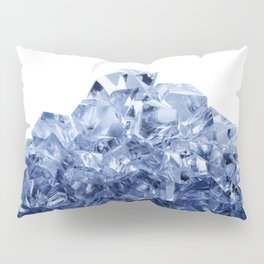 Mountain made of crushed ice, isolated on white background Pillow Sham