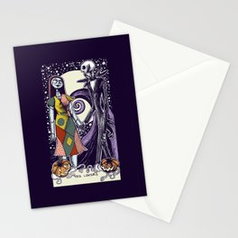 The Nightmare Before Christmas The Lovers Tarot Card Color Stationery Cards