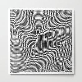 Squishing Together Metal Print