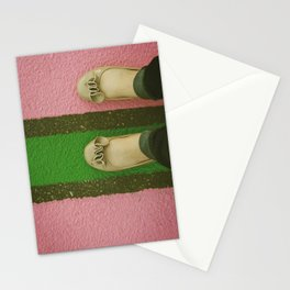 vintage pink & green Stationery Cards