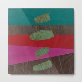 levitating over the leather rainbow Metal Print