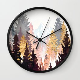 Wine Forest Wall Clock