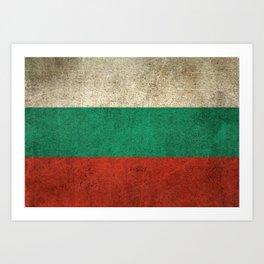 Old and Worn Distressed Vintage Flag of Bulgaria Art Print