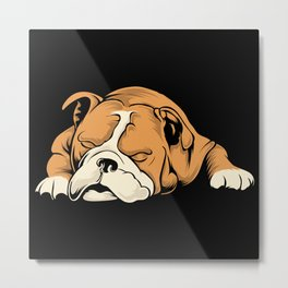 English Bulldog | Dog Lover Metal Print