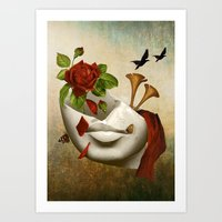 broken Art Prints featuring Broken by Diogo Verissimo