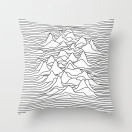 Black and white graphic - sound wave illustration Throw Pillow