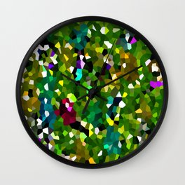 Pineapple Abstract Geometric Wall Clock