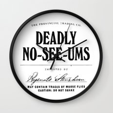 Deadly No-See-Ums Wall Clock