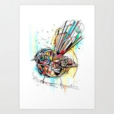 Bold Fantail Art Print