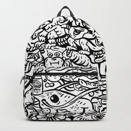 Somewhere Together black and white Backpack