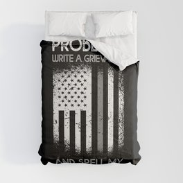 Problem Correction Officer Police Thin Silver Line Comforters