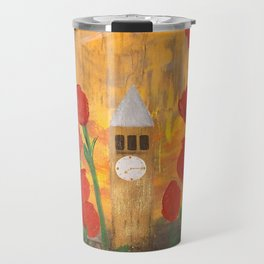 150 Years of CU - An Alumni Anniversary Tribute with Red Tulip Flowers Travel Mug