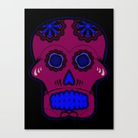 calavera Canvas Prints featuring Calavera  by Cody Wilkes-Booth